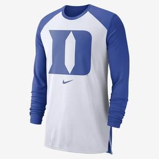 Nike Men's Long-Sleeve Basketball Top College Dri-FIT (Duke)