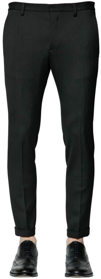 DSQUARED2 16cm Tidy Wool Blend Cady Classic Pants
