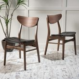 Christopher Knight Home Anise Leather Dining Chair (Set of 2)