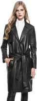 LAMARQUE - Portia Leather Trench In Black