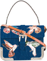 RED Valentino birds print shoulder bag - women - Cotton/Leather/metal - One Size