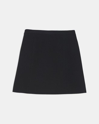 Theory Staple Wrap Skirt in Crepe