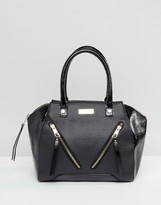 Lipsy Black Double Zip Front Grab Bag