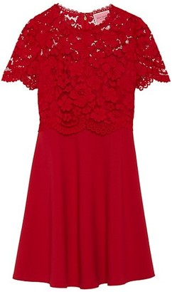Kate Spade Rose Lace Bodice Ponte Dress