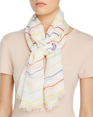 Barbour Squiggle Stripe Wrap Scarf