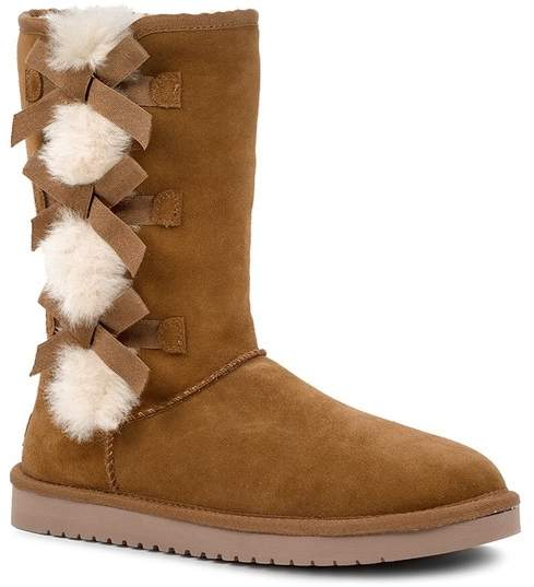 0912dad6092 BY UGG Victoria Tall Genuine Dyed Shearling Trim & Faux Fur Boot