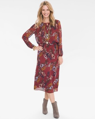 Chico's Chicos Floral Keyhole Dress