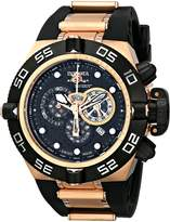 "Invicta Men's 6275 ""Subaqua Noma IV Collection"" 18K Rose Gold-Plated Stainless Steel and Polyurethane Watch"