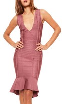 Missguided Women's Frill Hem Bandage Dress