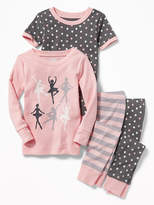 Old Navy 4-Piece Ballet-Graphic Sleep Set for Toddler & Baby