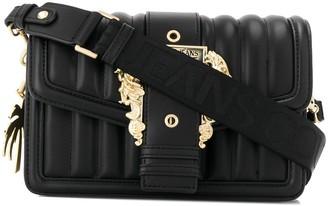 Versace filigree-buckle quilted shoulder bag