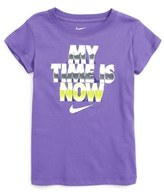 Nike My Time Is Now Graphic Tee (Toddler Girls & Little Girls)