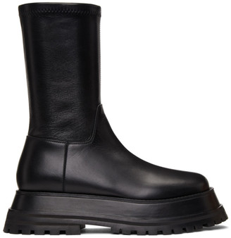 Burberry Black Hurr Boots