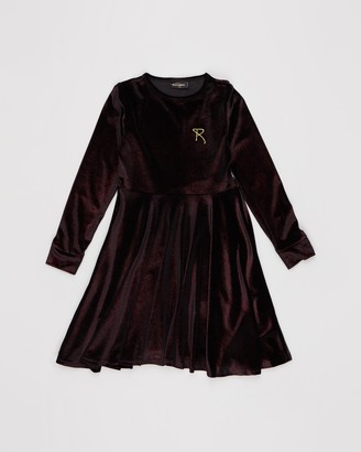 Rock Your Kid Velvet LS Waisted Dress - Kids