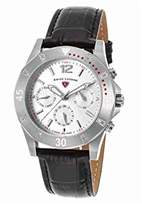 Swiss Legend Women's 'Paradiso' Swiss Quartz Stainless Steel and Leather Casual Watch, Color:Black (Model: 16016SM-02)