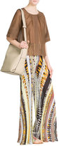 Emilio Pucci Mixed Print Wide-Leg Pants