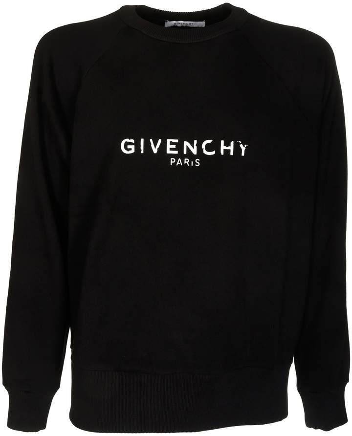 Givenchy Blurred Logo Print Sweatshirt