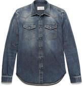 Maison Margiela Slim-Fit Washed-Denim Western Shirt