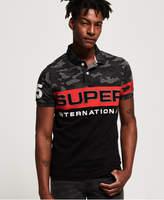 Superdry International Camo Short Sleeve Jersey Polo Shirt