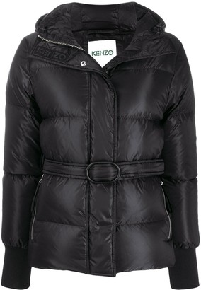 Kenzo belted padded coat