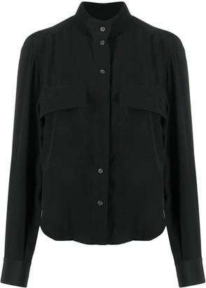 Frame Clean Safari crepe de chine blouse