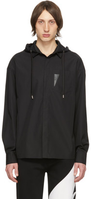 Neil Barrett Black Hooded Shirt