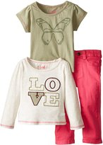 "Lee Baby Girls' ""Love Butterfly"" 3-Piece Outfit"