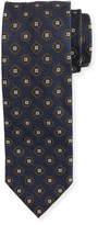 Brioni Medallion Textured Ground Tie