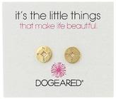 Dogeared Little Things Compass Disc Stud Earrings