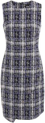 DKNY Button-embellished Cotton-blend Jacquard Mini Dress
