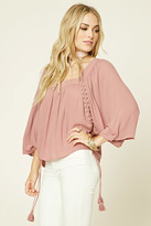 Forever 21 FOREVER 21+ Contemporary Lace-Up Blouse