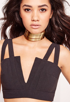 Missguided Metal Layered Choker Necklace Gold