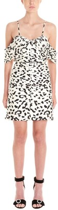 Self-Portrait Printed Rouched Mini Dress