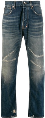 PRPS distressed straight-leg jeans