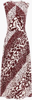 Victoria Beckham Printed Cady Midi Dress