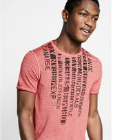 Express locations crew neck burnout graphic t-shirt