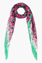 Marc Jacobs mint and fuchsia carnation Scarf