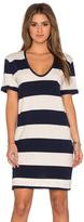 Stateside Large Rugby Stripe Short Sleeve Mini Dress