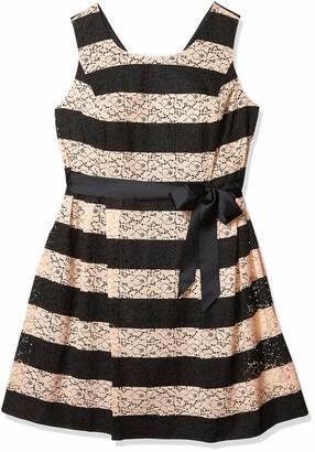 Robbie Bee Women's Plus Size 1 Pc Striped Dress