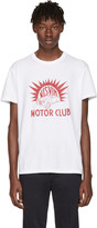 Visvim White motor Club Vintage T-shirt