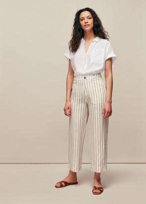 Linen Stripe Trouser