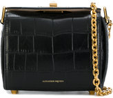 Alexander McQueen crocodile embossed Box Bag 16 - women - Calf Leather/Brass - One Size