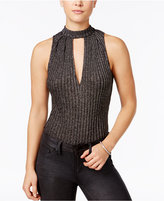 Material Girl Juniors' Ribbed Deep-V Bodysuit, Only at Macy's