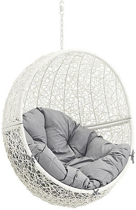 One Kings Lane Hide Outdoor Porch Swing - White/Gray