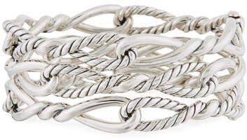 David Yurman Continuance Multi-Row Cuff w/ Diamonds