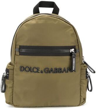 Dolce & Gabbana Kids Logo Applique Backpack