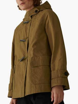 Toast Waxed Cotton Duffle Coat, Breen