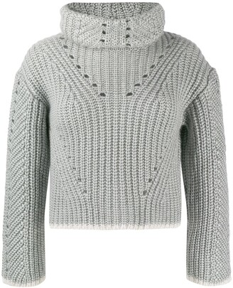 Fendi Roll Neck Knitted Jumper