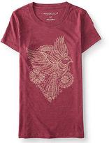 Aeropostale Womens Mandala Bird Graphic T Shirt Pink