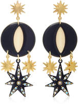 Lulu Frost Orana Gold-Plated Enamel and Crystal Earrings
